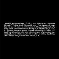 'titled (art as idea as idea)' [code] - [ety oxf] by joseph kosuth